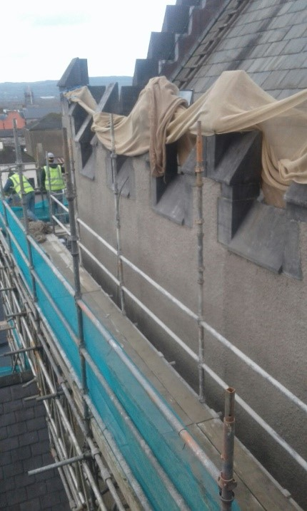 Cleaning and Rendering of facades at St Marys Cathedral Limerick 2 - Mid West Lime
