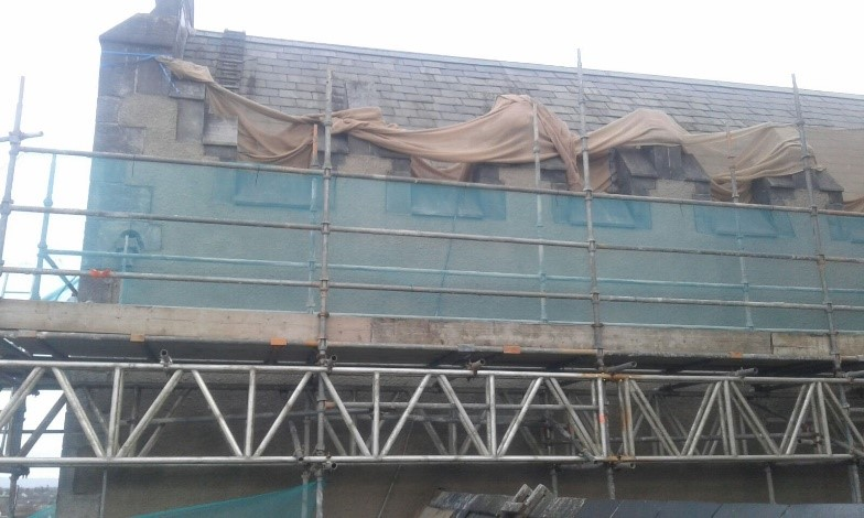 Cleaning and Rendering of facades at St Marys Cathedral Limerick - Mid West Lime